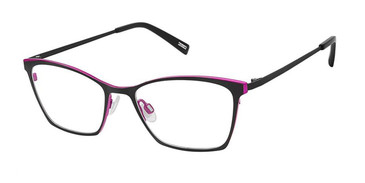 Black Fuchsia Kliik Denmark 653 Eyeglasses - Teenager.
