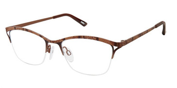 Brown Python Kliik Denmark 651 Eyeglasses - Teenager.