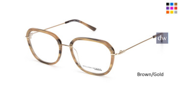 Brown/Gold William Morris London WM50142 Eyeglasses.
