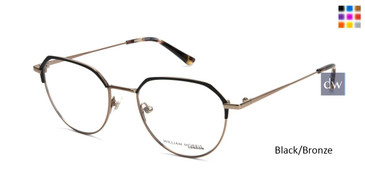 Black/Bronze William Morris London WM50144 Eyeglasses.