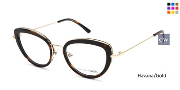 Havana/Gold William Morris London WM50150 Eyeglasses.