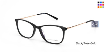 Black/Rose Gold William Morris London WM50152 Eyeglasses.