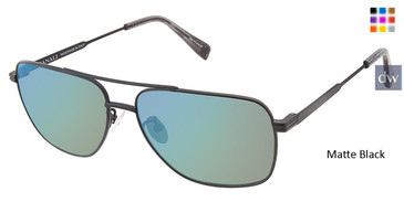Matte Black Canali 201A Alternative Fit Titanium Sunglasses.