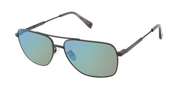 c01 matte black Canali 201A Alternative Fit Titanium Sunglasses.