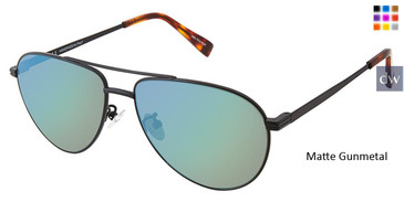 Matte Gunmetal Canali 204A Alternative Fit Titanium Sunglasses.