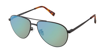 c01 matte gunmetal Canali 204A Alternative Fit Titanium Sunglasses.