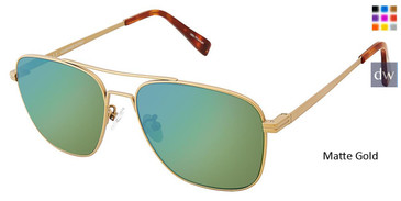 Matte Gold Canali 205A Alternative Fit Titanium Sunglasses.