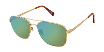 C01 Matte Gold Canali 205A Alternative Fit Titanium Sunglasses.