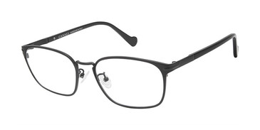 C01 Black Canali 604A Alternative Fit Titanium Eyeglasses.