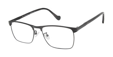C01 Black Canali 606A Alternative Fit Titanium Eyeglasses.