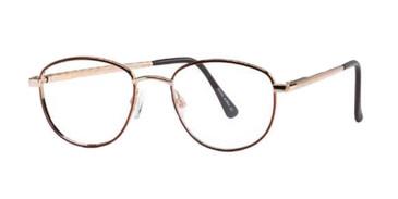 Matte Gold/Demi Amber Wolverine WS02 Safety Eyeglasses