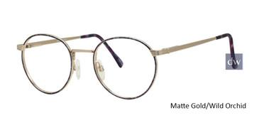 Matte Gold/Wild Orchid Wolverine W009 Safety Eyeglasses