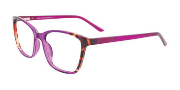 Purple Crystal & Demi Brown Cargo C5048 Eyeglasses.