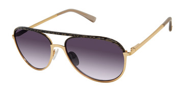 Gold/Black L.A.M.B SHAW - LA565 Sunglasses