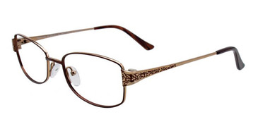 Dark Brown/Gold Pentax PX906 Eyeglasses