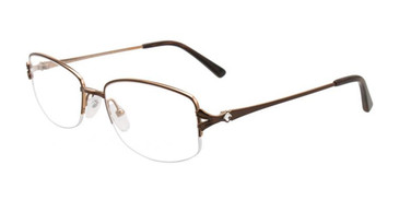 Satin Brown/Gold Pentax PX907 Eyeglasses