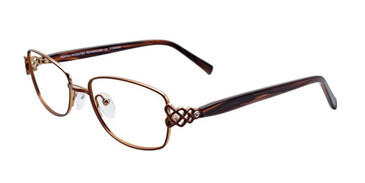 Satin Dark Brown/Gold Pentax PX909 Eyeglasses