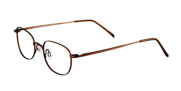 Shiny Hazel Brown Cool Clip CC816 Eyeglasses.