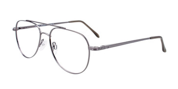 Shiny Silver Cool Clip CC827 Eyeglasses.