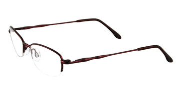 Shiny Dark Burgundy Cool Clip CC824 Eyeglasses - Teeneger.