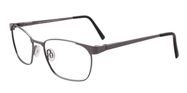 Satin Steel Cool Clip CC831 Eyeglasses.