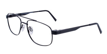 Satin Black Cool Clip CC832 Eyeglasses.