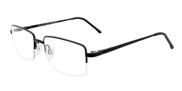 Satin Black Cool Clip CC833 Eyeglasses.