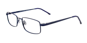 Satin Dark Blue Cool Clip CC834 Eyeglasses - Teenager.