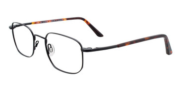 Satin Black Cool Clip CC836 Eyeglasses.