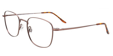 Satin Brown Cool Clip CC837 Eyeglasses.