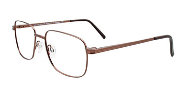 Satin Brown Cool Clip CC838 Eyeglasses.