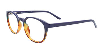 Blue/Demi Amber  Cool Clip CC842 Eyeglasses - Teenager.