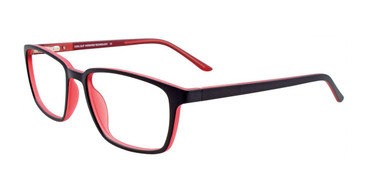 Black Red Cool Clip CC843 Eyeglasses.