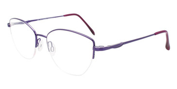 Satin Purple Cool Clip CC846 Eyeglasses.
