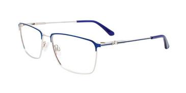 Satin Blue & Silver Clip & Twist CT269 Eyeglasses.