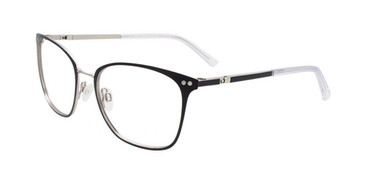 Matt Black & Silver Clip & Twist CT267 Eyeglasses.