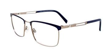 Matt Dark Blue & Matt Steel Clip & Twist CT264 Eyeglasses.
