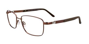 Satin Dark Brown Clip & Twist CT247 Eyeglasses.