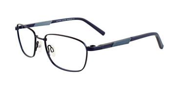 Satin Navy Clip & Twist CT250 Eyeglasses.