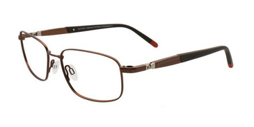 Matt Brown Clip & Twist CT234 Eyeglasses.