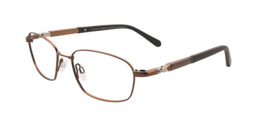 Satin Brown & Dark Brown Clip & Twist CT232 Eyeglasses.