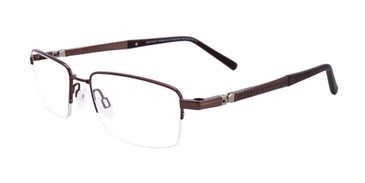 Satin Dark Brown Clip & Twist CT233 Eyeglasses.