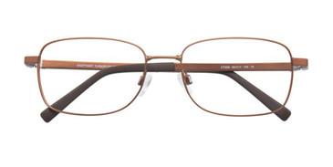 Matt Brown & Dark Brown Clip & Twist CT228 Eyeglasses.
