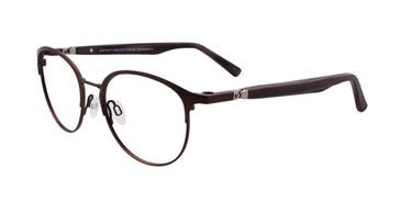 Matt Dark Brown Clip & Twist CT244 Eyeglasses.