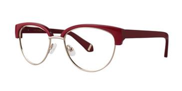 Maroon Zac Posen Ethel Eyeglasses.