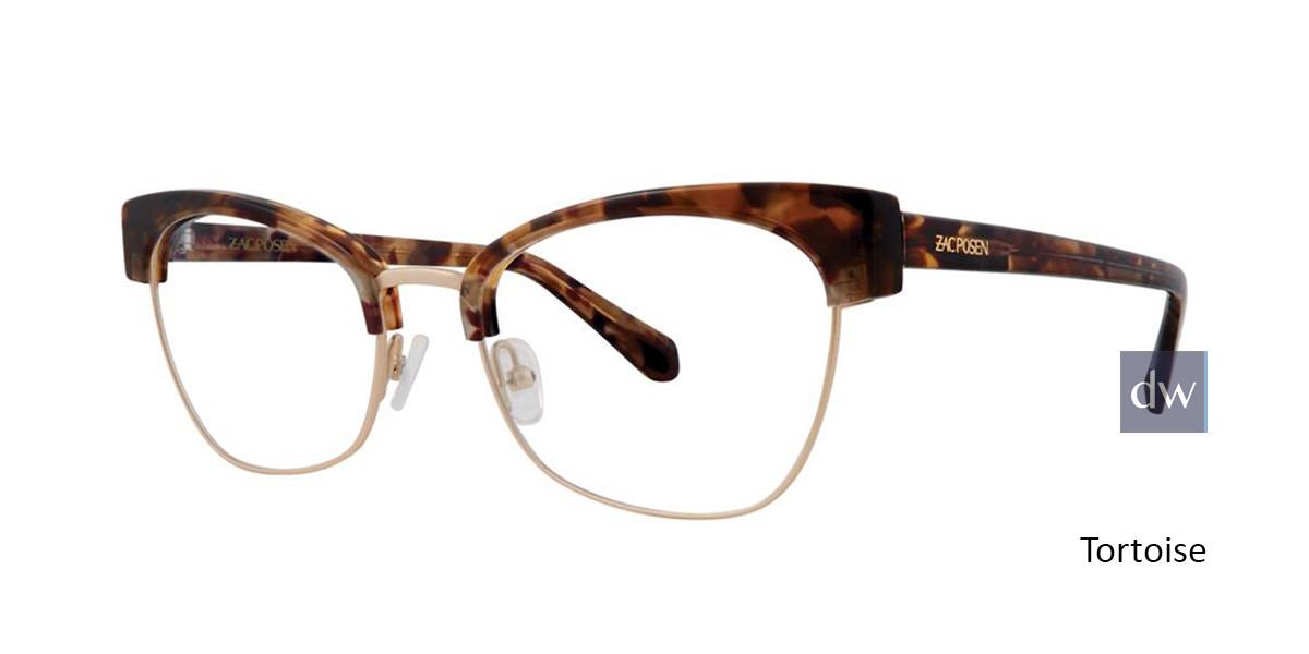 Tortoise Zac Posen Livy Eyeglasses.