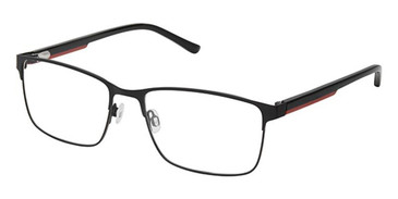 Black Red Superflex SF-564 Eyeglasses.