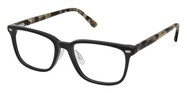 Black Tortoise Superflex SF-560 Eyeglasses.