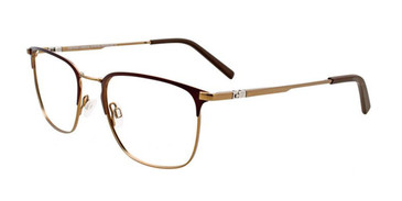 Matte Dark Brown/Matte Gold EasyTwist ET995 Eyeglasses.