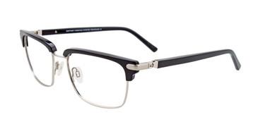 Black/Silver EasyTwist ET993 Eyeglasses.